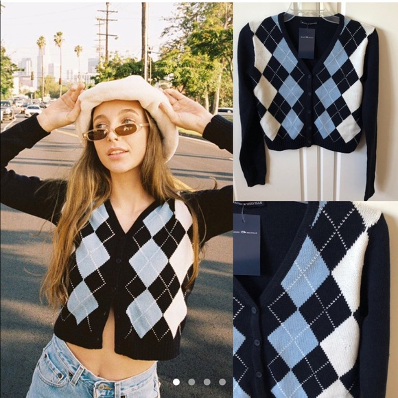 Image result for argyle cardigan emma chamberlain